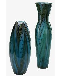 Peacock Feather Vase by