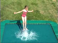 Big Wave Square Trampoline Running through the sprinklers is great, but this is better! The kids will be having such a great time, you won't be able to r. Sprinklers, Big Waves, American, Videos, Youtube, Fun, Sprinkler, Youtubers, Video Clip