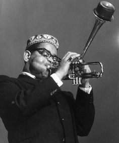 Dizzy Gillespie and Great Jazz Style. Jazz Artists, Jazz Musicians, A Night In Tunisia, Newport Jazz Festival, Dizzy Gillespie, Afro Cuban, Trumpet Players, All That Jazz, Miles Davis