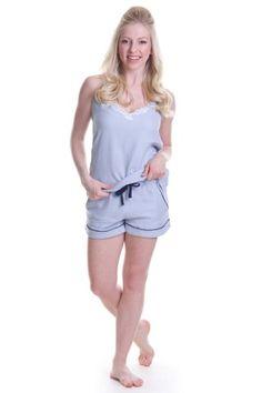 Blue Cotton Classic Shorts