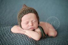 Image of Knitted Boy Pixie Bonnet - Mixed Colors