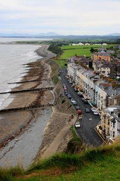 Criccieth beach North Wales.