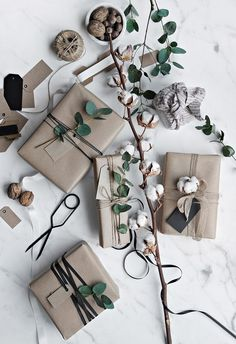 Gift wrap ideas -- the affordable gift wrap supplies I stock up on (kraft paper! twine!) to make all my gifts look amazing, while saving some money.