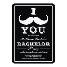 Moustache You To Join Us Bachelor Party Invitation Bachelor Party Invitations, Unique Invitations, Invites, Code Names, 25th Birthday, Birthday Ideas, Street Names, Beard Care, Rsvp