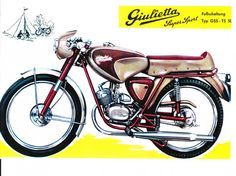 Classic Italian Motorcycles & Scooters of the Vintage Motorcycles, Cars And Motorcycles, Sport En France, Vinyl Record Player, Moped Scooter, Car Restoration, Supersport, Automotive Art, Classic Italian