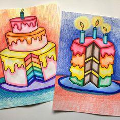 Basic Drawing For Kids, Easy Art For Kids, Art Drawings For Kids, Art Club Projects, School Art Projects, 7th Grade Art, Art Cart, Ecole Art, Art Curriculum