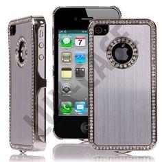 Jewel Silver Edge (Sølv) iPhone 4/4S Deksel