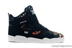 new arrival d8e6e 70467 Mens Supra Bleeker High Skateboard Shoes Black Flower