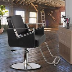 ▫️NEW Industrial Salon Chair by Keller  ✂️ . ◽️New-age style & High tech salon design!