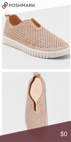 4f5c74ac237e NWT Women s Tammy Laser Cut Sneakers Universal Thread slip-on sneakers  complete any casual outfit Laser-cut detailing covers the upper for a  unique look 1in ...