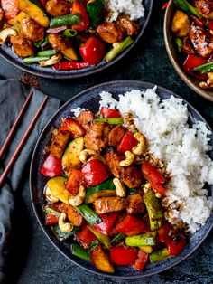 My Kung Pao Chicken is a deliciously spicy stir fry with lots of chunky veggies . - My Kung Pao Chicken is a deliciously spicy stir fry with lots of chunky veggies and chicken, coated - Pinterest Chicken Recipes, Asian Recipes, Healthy Recipes, Spicy Recipes, Copycat Recipes, Ethnic Recipes, Clean Eating, Healthy Eating, Healthy Food