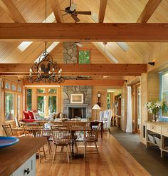 Awesome Modern Rustic Home Design: Striking Open Floor Interior Wooden Floor Key Peninsula Residence ~ SQUAR ESTATE Architecture Inspiration