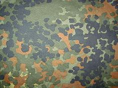 """Flecktarn (German: """"spotted camouflage""""; also known as Flecktarnmuster or Fleckentarn) is a 3-, 4-, 5- or 6-color disruptive camouflage pattern"""