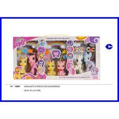 Juguete CONJUNTO 6 PONYS CON ACCESORIOS Precio 12,87€ en IguMagazine #juguetesbaratos