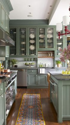 Interior Modern, Home Interior, Interior Design Kitchen, Green Kitchen, New Kitchen, Home Decor Kitchen, Home Kitchens, Dream Home Design, House Design