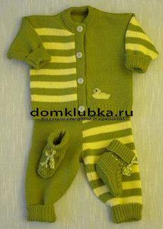 Картинки по запросу вязаные костюмчики для новорожденных мальчиков