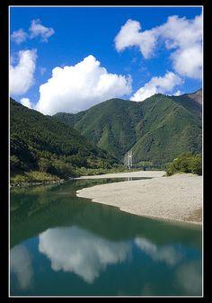 Shimanto River, Shikoku, Japan