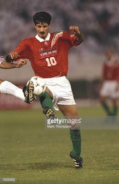 4e60d4e41 Ali Daei of Iran in action during the World Cup qualifier match against  Qatar in Doha