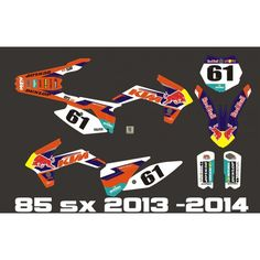 Kit deco dhl factroy enduro replica 2014 ktm 85 sx 2013 for Decoration chambre ktm
