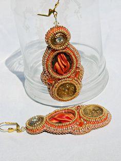 "embroidered earrings shibori "" Desert doors"" on Etsy, $103.42 AUD"