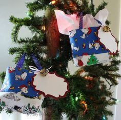 Christmas Tree Ornaments Ornament Gift Bags by SpindlesDesigns