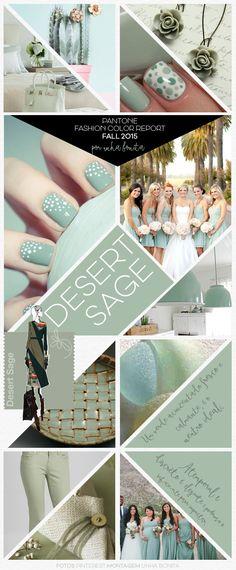FALL 2015 Pantone Fashion Color Trend inspirations - DESERT SAGE