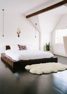 Chambre : zoom sur le bout de lit - Marie Claire Maison