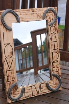Live Love Ride Wall Mirror for horse lovers western or by dddcort, $99.00