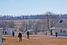 Amish baseball during school recess. Lancaster County