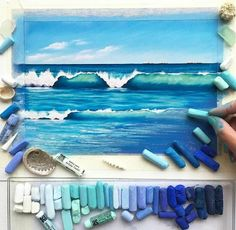 Ooo more pastels the funny thing is I just bought some pastels and have yet to use them lol but I love this and I want to attempt it. *credit goes to original owner/artist*