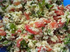 Cauliflower tabouleh: In this tabouleh recipe, the couscous or bulgur is replaced with grated cauliflower florets. This gives it a very fresh and amazing flavour.