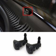Windshield Washer Spray Jet Nozzle 2P For Hyundai 2011-2014 Sonata OEM Parts -- Awesome products selected by Anna Churchill