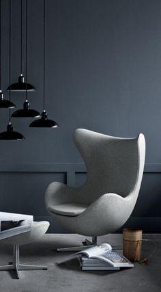 Mijn favoriet !!!!! De Egg chair van Arne Jacobsen. Ontworpen in 1958 een tijdloos ontwerp.