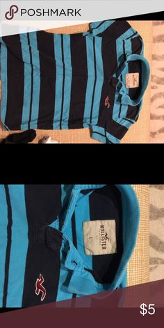 Mens hollister polo sz large Good used condition. Normal wash wear Hollister Shirts Polos