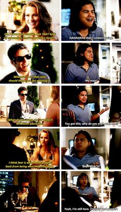 Cisco commentating Barry and Patty's date. #TheFlash #Season2 #2x05