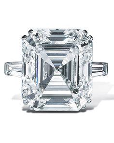 Asscher-cut Diamond Engagement Ring from Graff (a pinner after your own heart @kerrie Jenkins...)