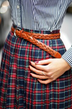 Plaits, Pleats, and Plaid - The Classy Cubicle ... Or just a use for my elementary school uniform :)