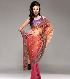 My Fav Bridal Saree - colours and the embroidery