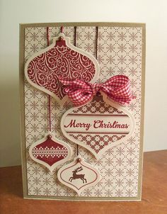 Made with the newOrnament Keepsakes #128048 wood or #128051 Clear and the matching Framelits Dies #127816.  These two items come in a bundle for a special price.  www.stampersjoy.stampinup.net