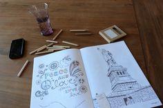 Jour 13 : Sur ma table Séance coloriage / détente #Flow29jours