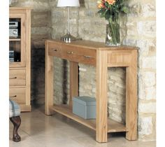 Hereford Rustic Oak Hall Table You will find contemporary and light