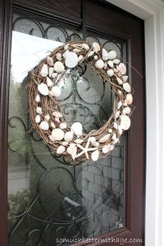 Better With Age: Summer Wreath...might be a cute idea to try for front porch in summer