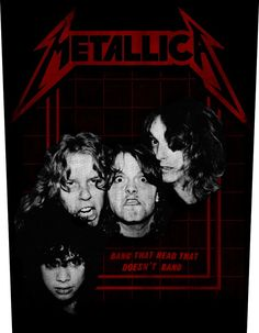 8c74c65a12c4 Metallica Bang That Head Back Patch Metal Music Bands