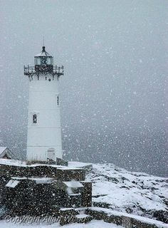 What could be more beautiful than a Portsmouth lighthouse in the snow? #NH #snow #Portsmouth