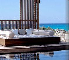Amanyara Luxury Hotel Outdoor Bolster Pillows at Home Infatuation Blog