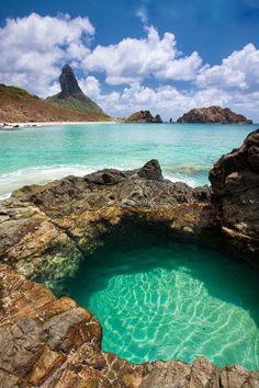 """visitheworld: """" Buraco do Galego, Fernando de Noronha Archipelago / Brazil (via www.rotanoronha.com.br). """""""