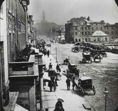 East end of Princes Street, Edinburgh, 1859 Old Pictures, Old Photos, Antique Photos, Vintage Photographs, Vintage Images, Old Town Edinburgh, Edinburgh Sights, Irish Images, Victorian Life