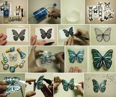 Time to Craft These Butterflies Using Plastic Bottles and Nail Polish
