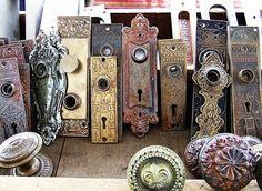 Vintage Door Hardware - via Sarah's Fab Day