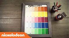 DIY Crafts   TeenNick Paint Color Calendar    Tilaa ilmaiseksi Uula-värikartta: http://www.uula.fi/fi/tilaa-vaerikartta